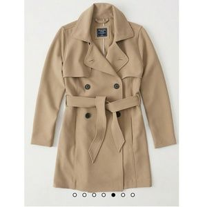 BNWT A&F Khaki Drapey Trench Coat Sz Small NWT